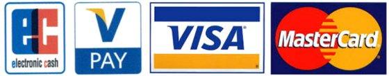 Akzeptierte Kreditkarten